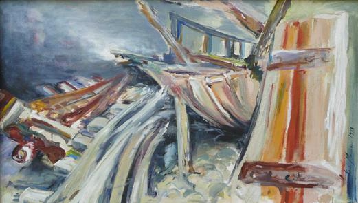 Schiffswrack, 1997, Mischtechnik auf LW